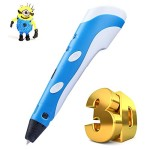 IPC-3D-Printing-Pen-with-3-Free-175mm-PLA-Filament-2015-Blue-for-3D-Drawing-0