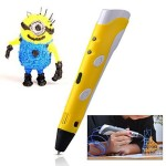 Soyan-3D-Arts-Crafts-Drawing-3D-Printing-Doodle-Printer-Pen-with-FREE-30G-ABS-FilamentYellow-0-0