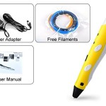 Soyan-3D-Arts-Crafts-Drawing-3D-Printing-Doodle-Printer-Pen-with-FREE-30G-ABS-FilamentYellow-0-1